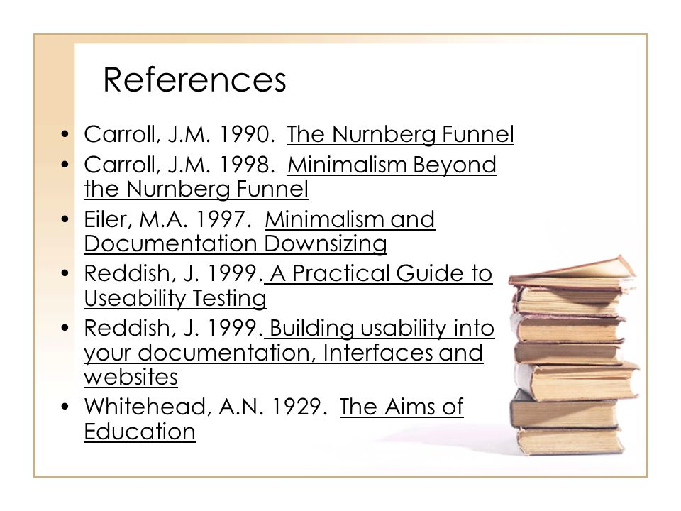 References Carroll, J.M The Nurnberg Funnel