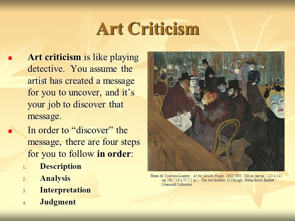 Art Criticism and Aesthetic Judgment - ppt video online download