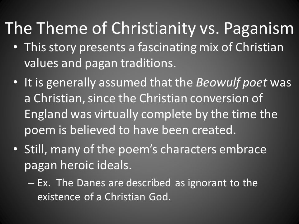 beowulf christian or pagan