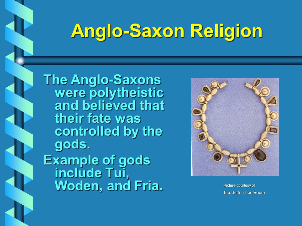 what religion were the anglo saxons
