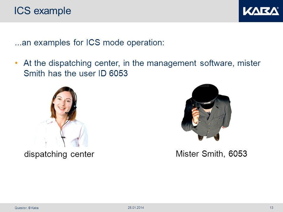 ICS example ...an examples for ICS mode operation: