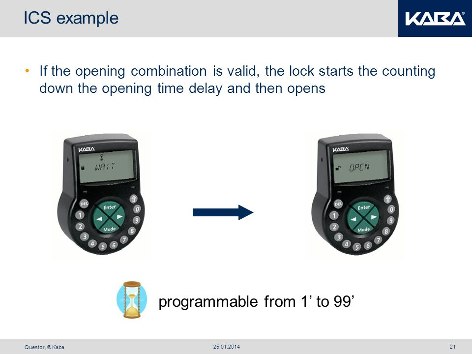 ICS example programmable from 1' to 99'