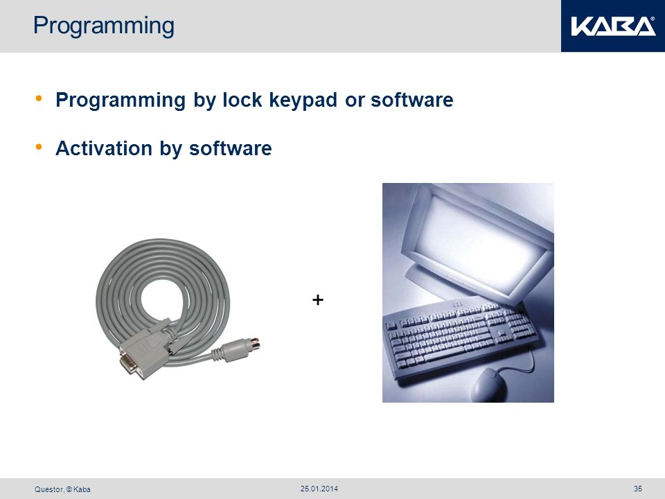 Programming + Programming by lock keypad or software