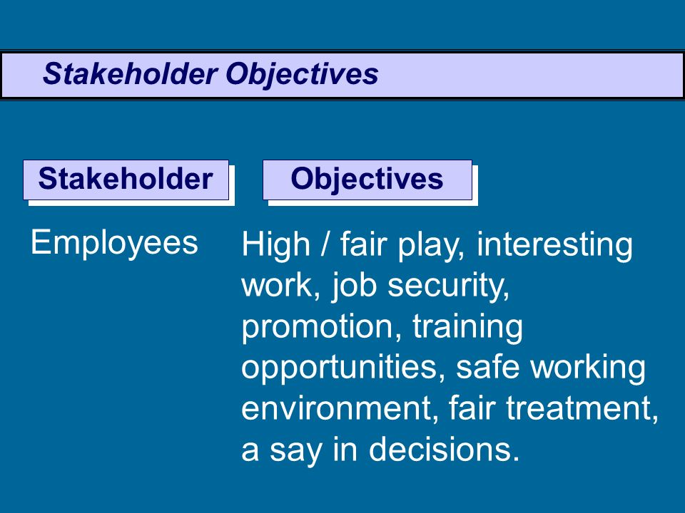 Stakeholder Objectives - ppt video online download