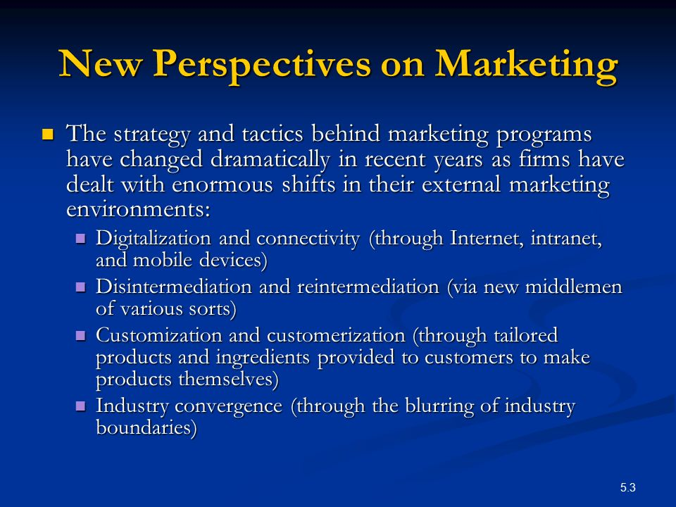 New Perspectives on Marketing
