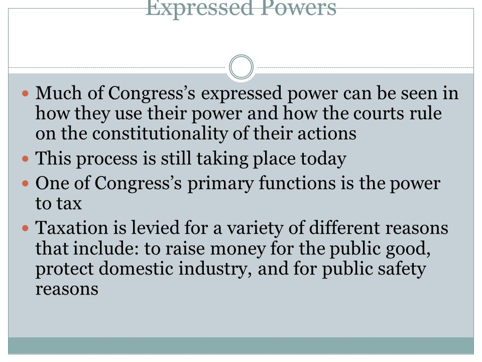 Congress Notes 2 Power Of Congress Ppt Video Online Download