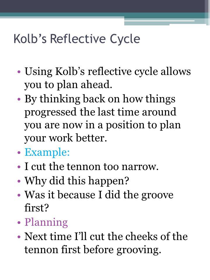 kolb reflective practice
