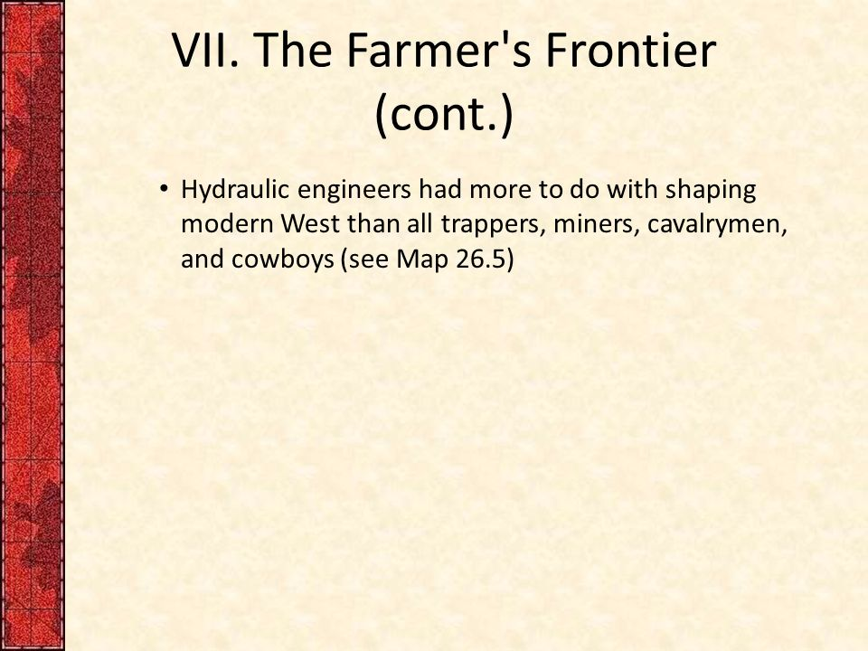 The Great West and the Agricultural Revolution, 1865– ppt