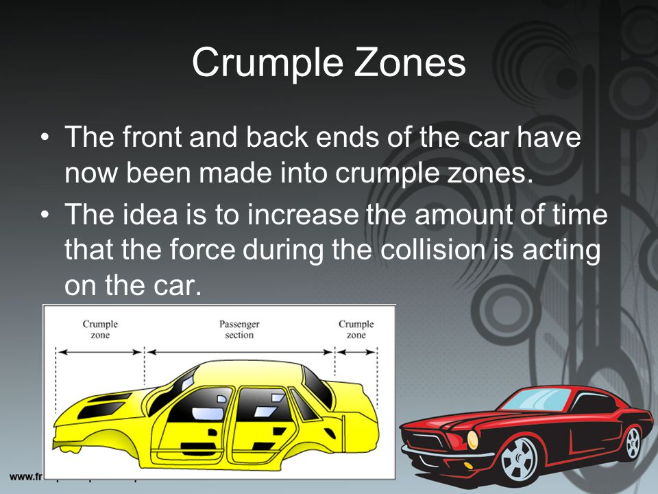 physics behind car safety essay The physics behind car safety systems by changing an object's momentum, we are able to move it either faster or slower, and eventually to a halt, depending on the amount, direction, and magnitude of the force that acts upon the object.