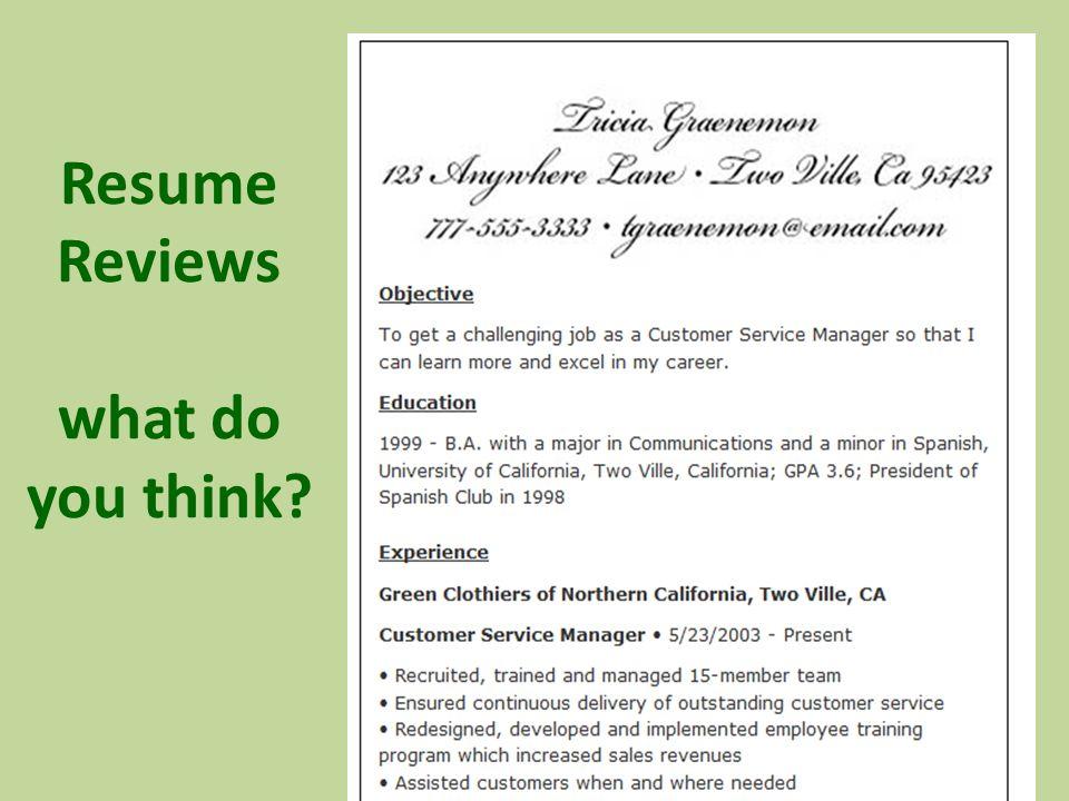 resume my career reviews