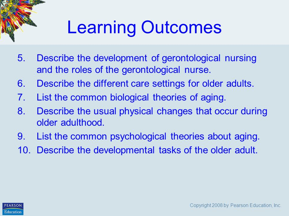 for Learning older adults theory