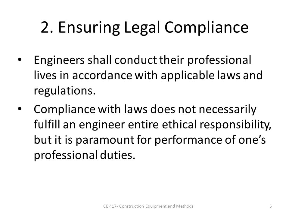 legal compliance and ethical responsibility