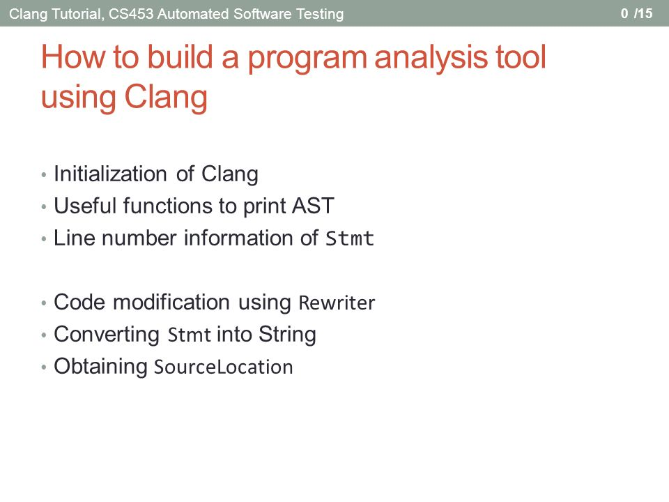 Initialization of Clang