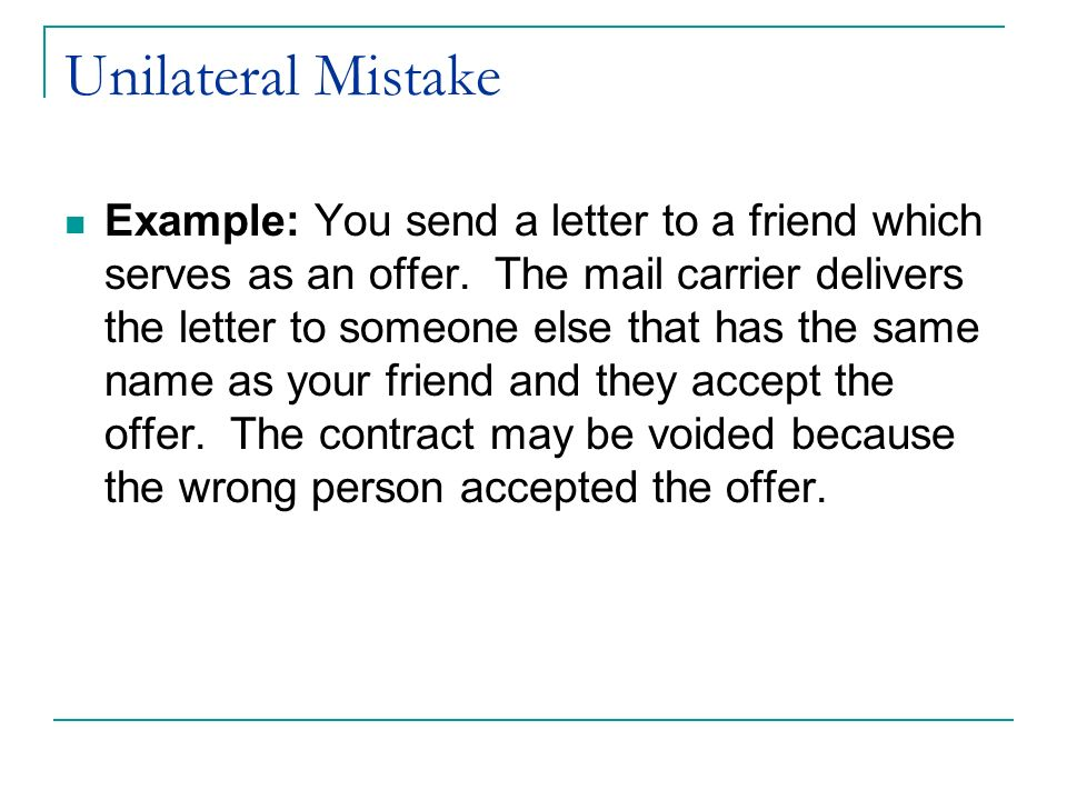 Unilateral Agreement Images Agreement Letter Format