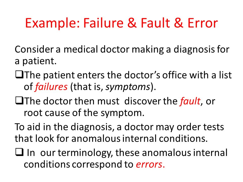 Example: Failure & Fault & Error