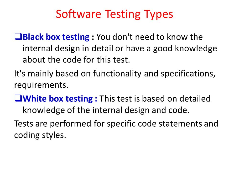 Software Testing Types
