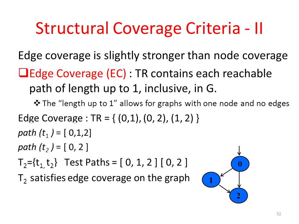 Structural Coverage Criteria - II