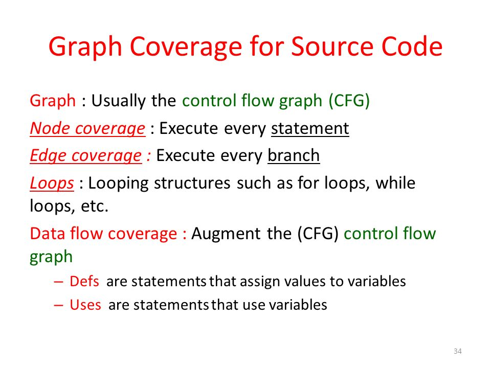 Graph Coverage for Source Code