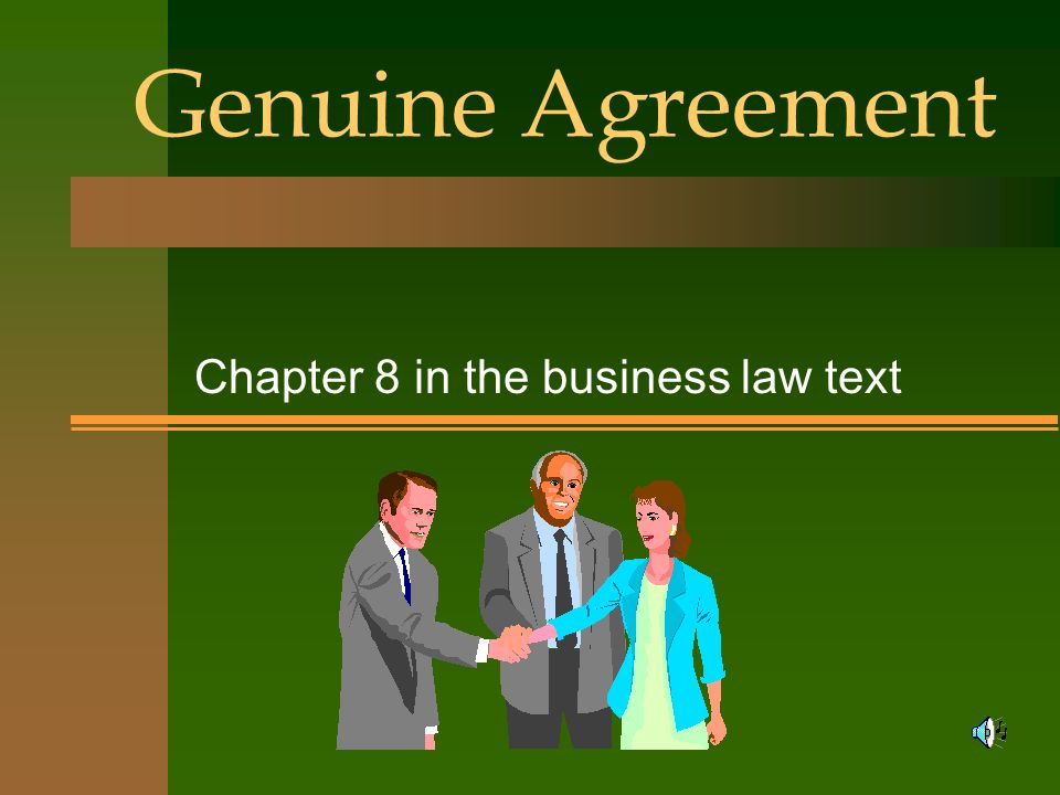Chapter 8 in the business law text