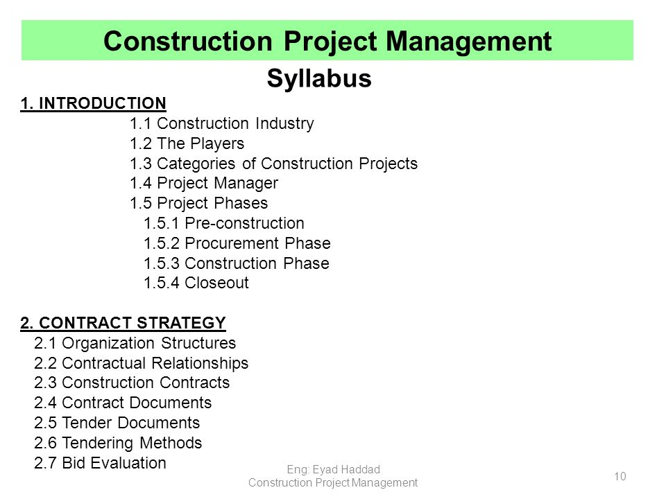 Bidding strategy of construction companies - Term paper Sample