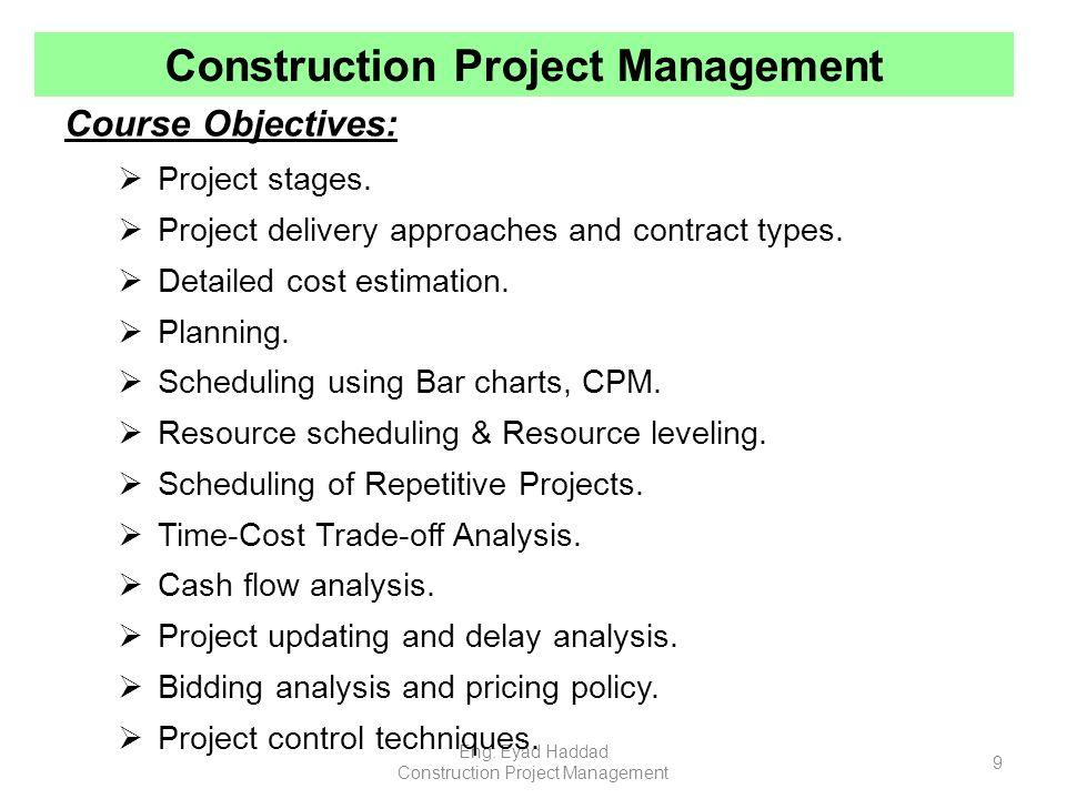 Construction Project Management Ppt Video Online Download