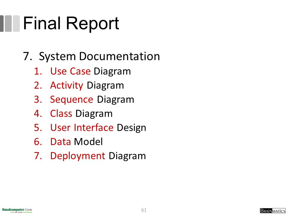 Systems analysis and design 5 system implementation ppt video final report system documentation use case diagram activity diagram ccuart Image collections