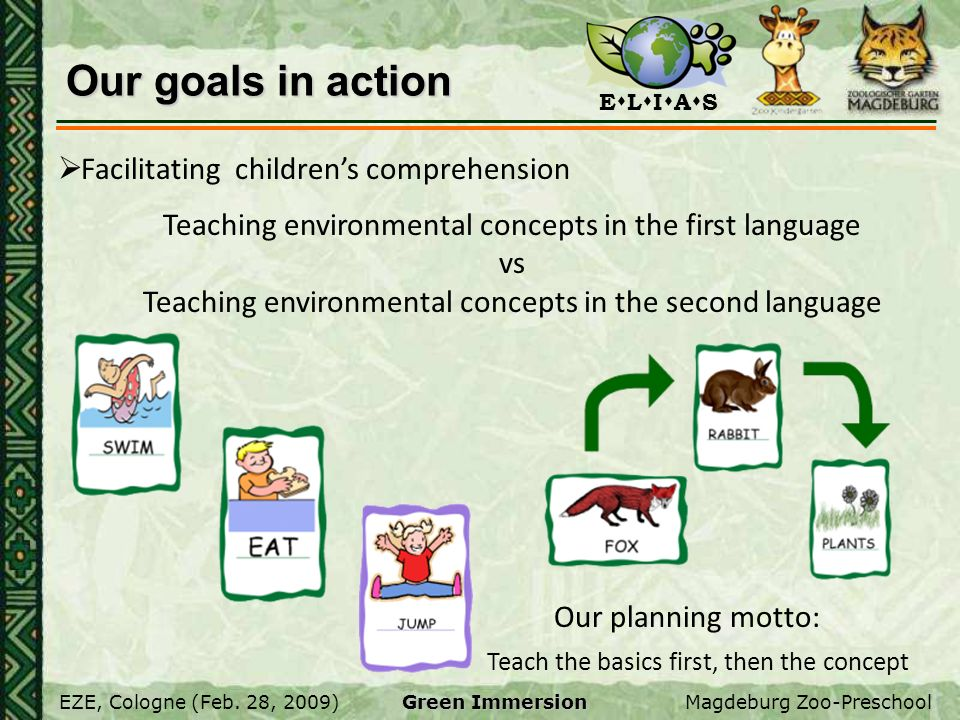 Our goals in action Facilitating children's comprehension