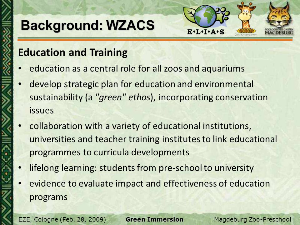 Background: WZACS Education and Training