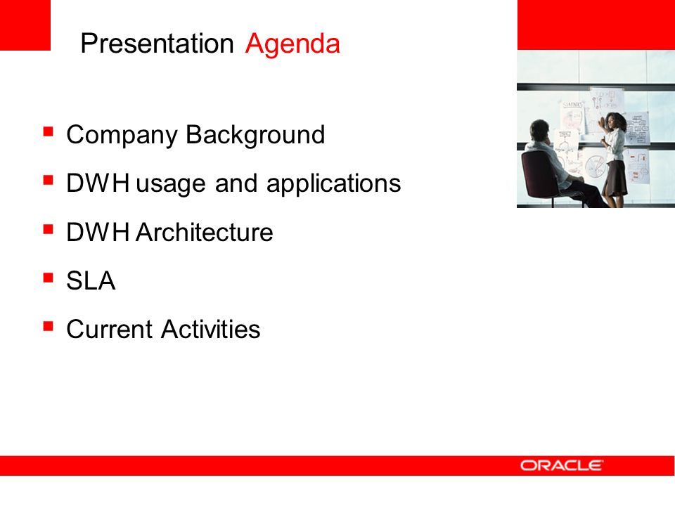 Presentation Agenda Company Background DWH usage and applications