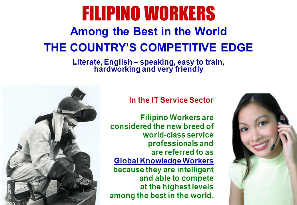 FILIPINO WORKERS Among the Best in the World
