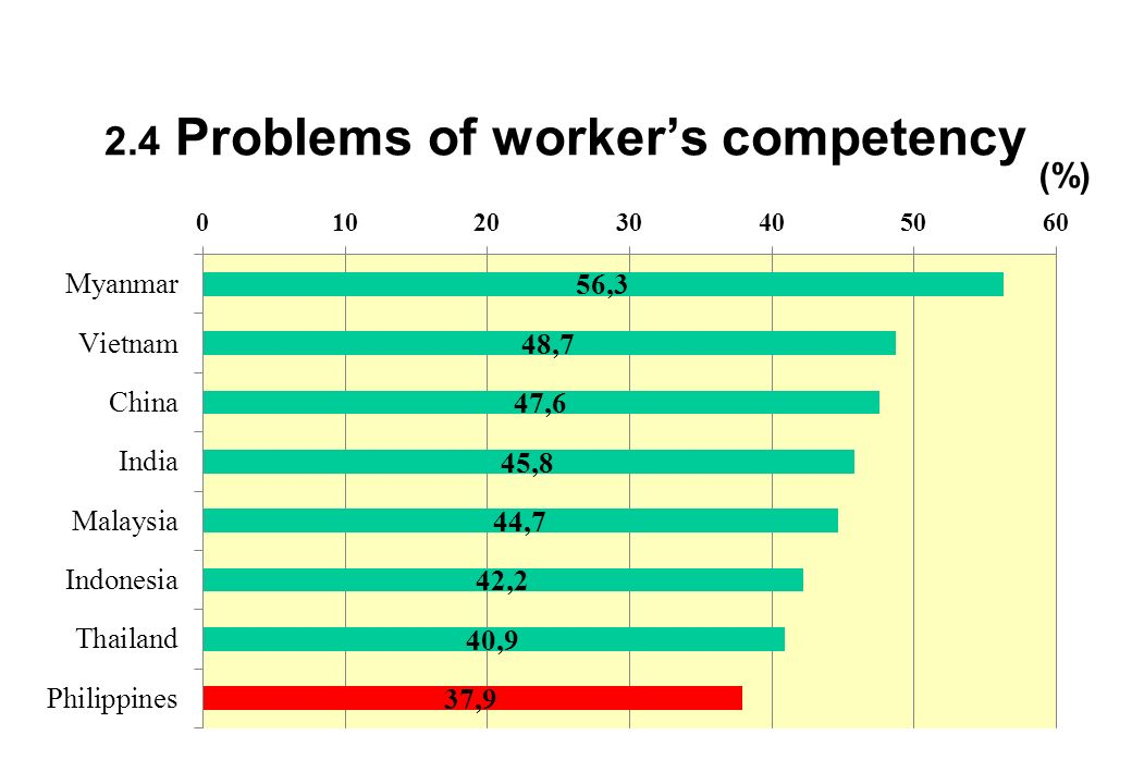 2.4 Problems of worker's competency