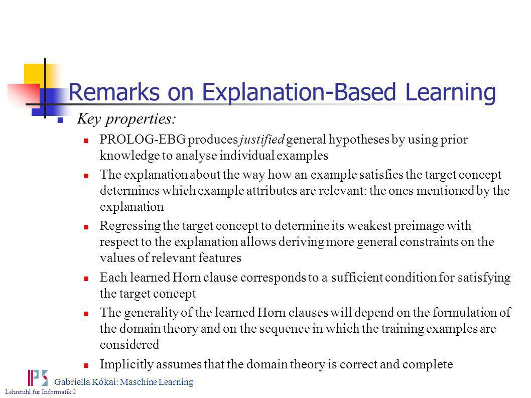 Remarks on Explanation-Based Learning