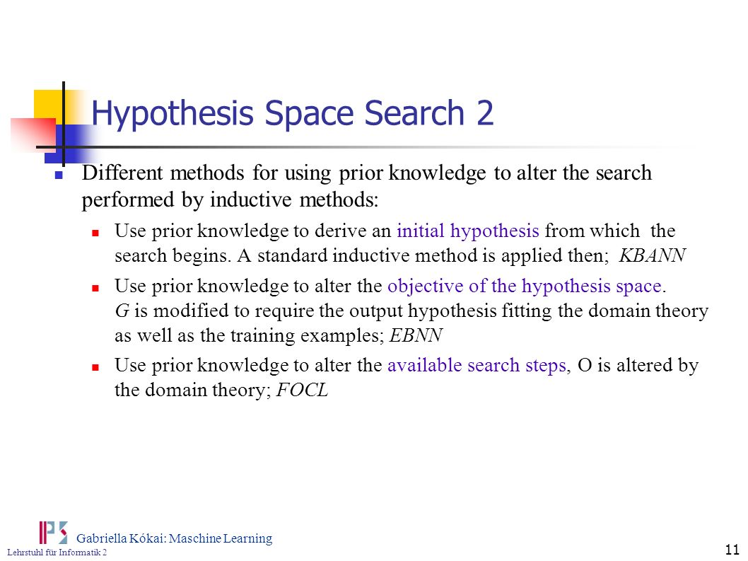 Hypothesis Space Search 2