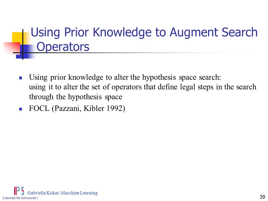 Using Prior Knowledge to Augment Search Operators
