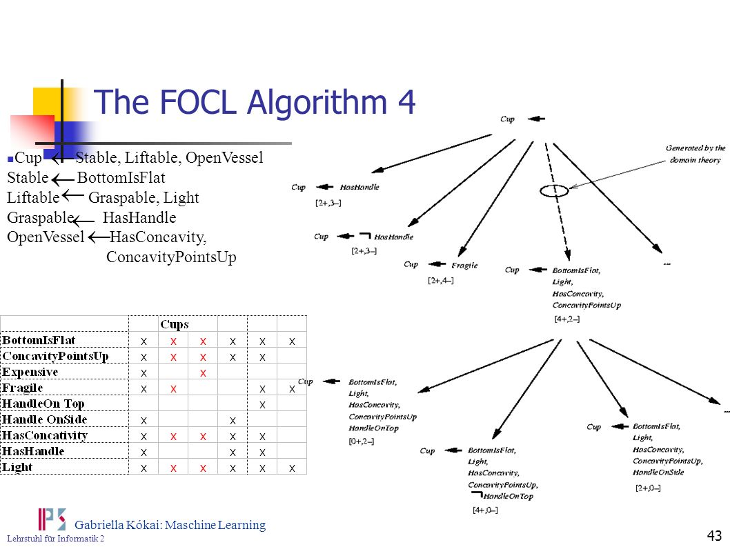 The FOCL Algorithm 4