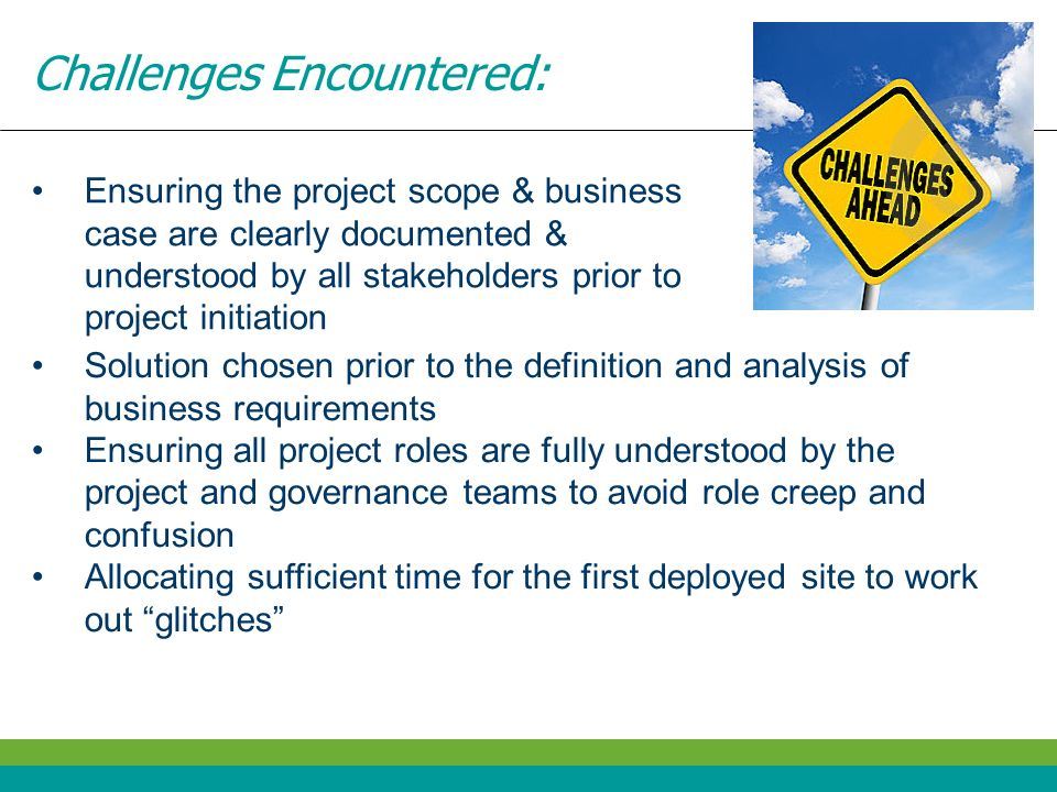 Challenges Encountered: