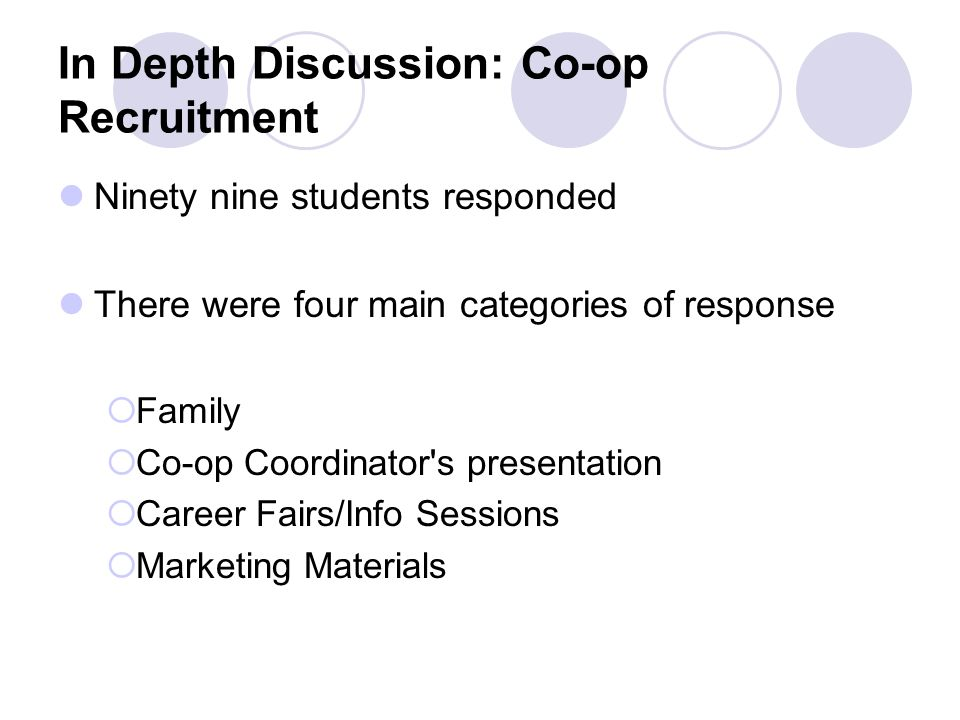 In Depth Discussion: Co-op Recruitment