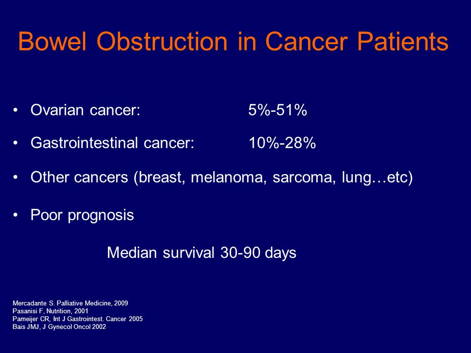 Bowel Obstruction In Cancer Patients Ppt Video Online Download