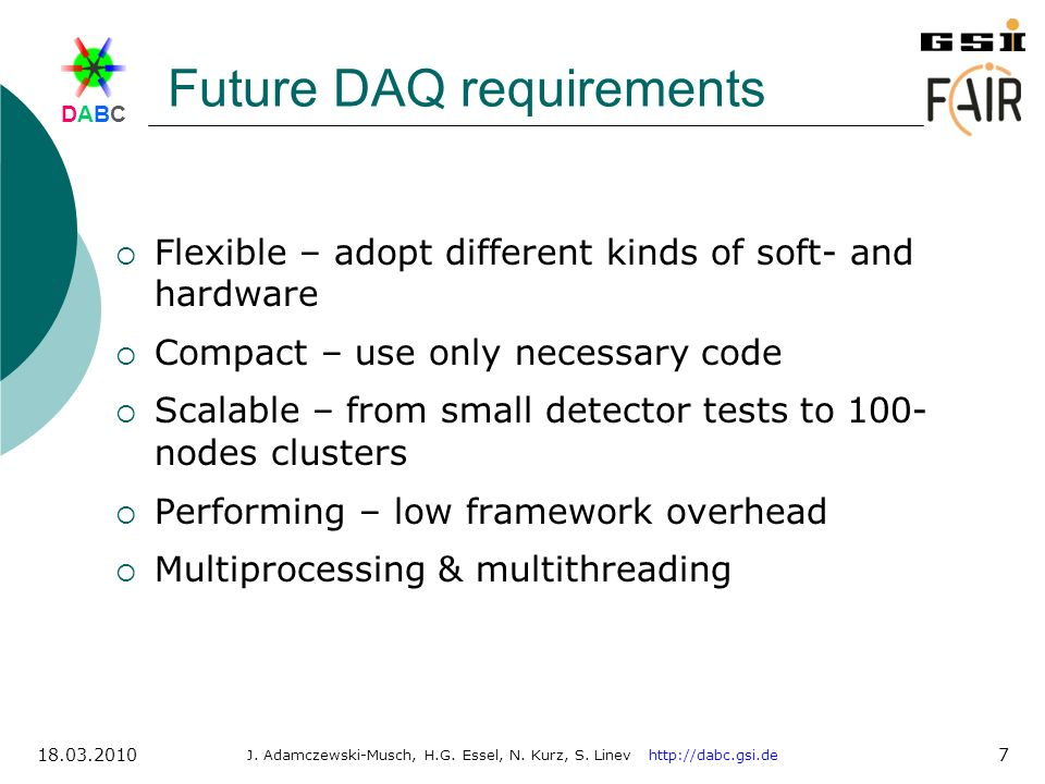 Future DAQ requirements