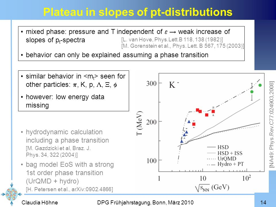 Plateau in slopes of pt-distributions