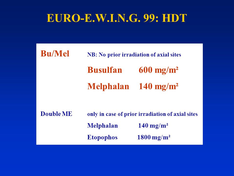 EURO-E.W.I.N.G. 99: HDT Bu/Mel NB: No prior irradiation of axial sites