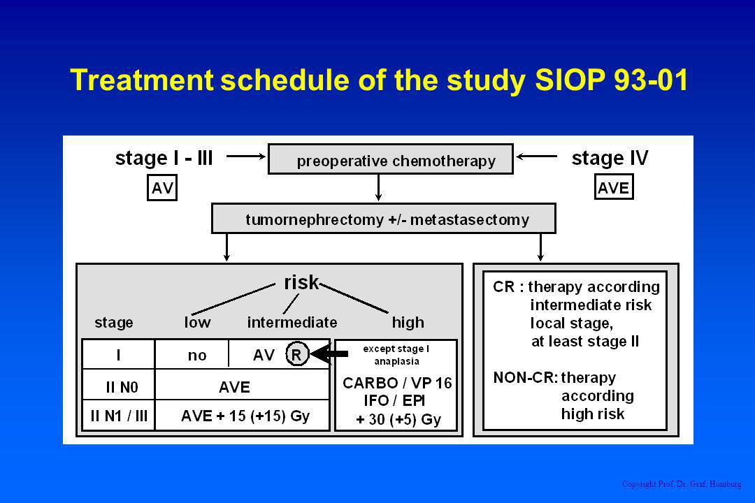 Treatment schedule of the study SIOP 93-01