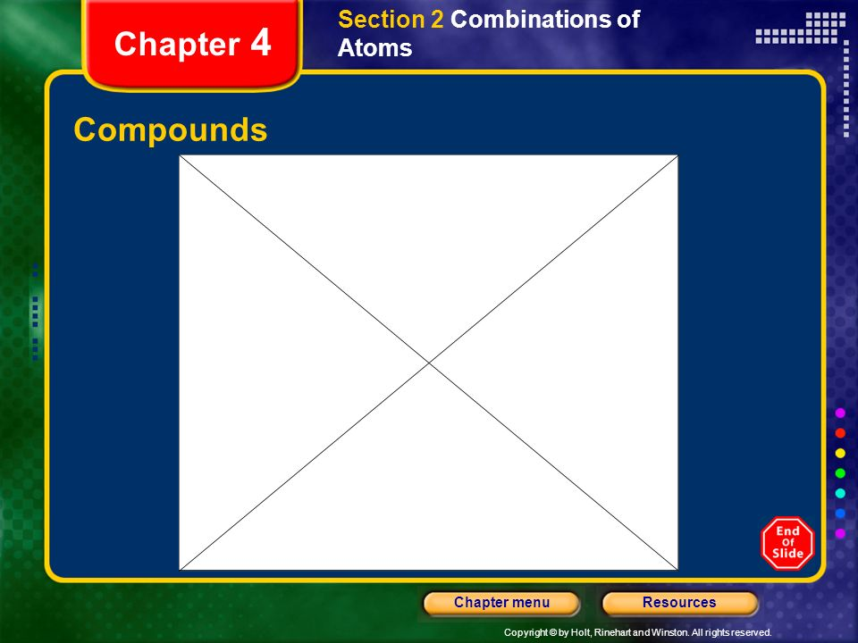 Section 2 Combinations of Atoms