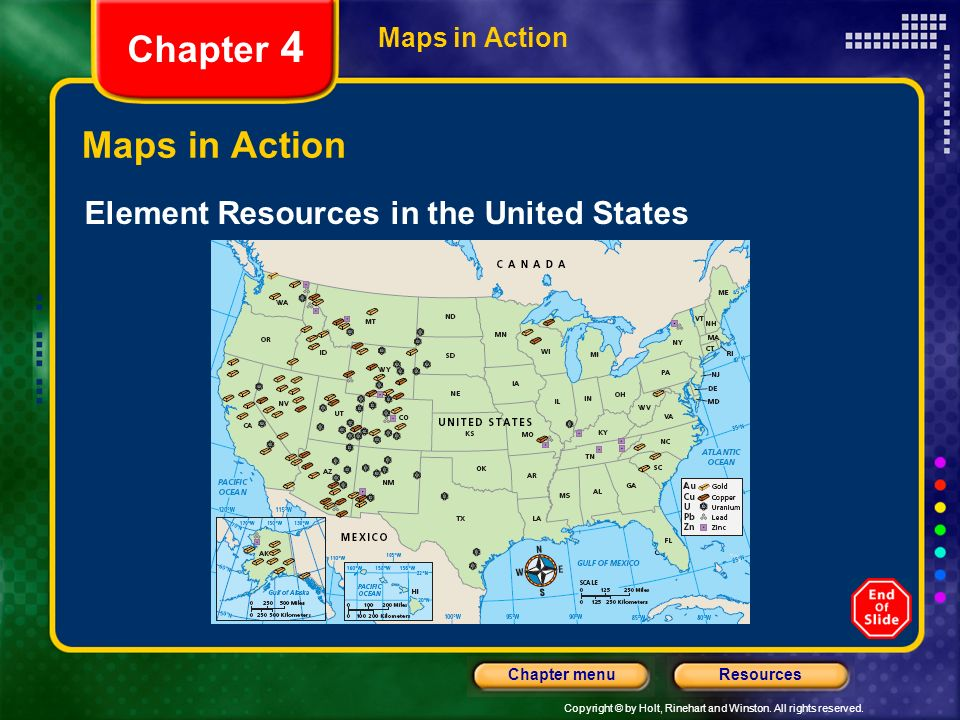 Chapter 4 Maps in Action Element Resources in the United States