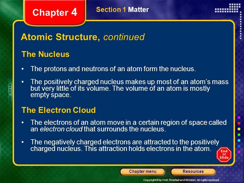 Atomic Structure, continued