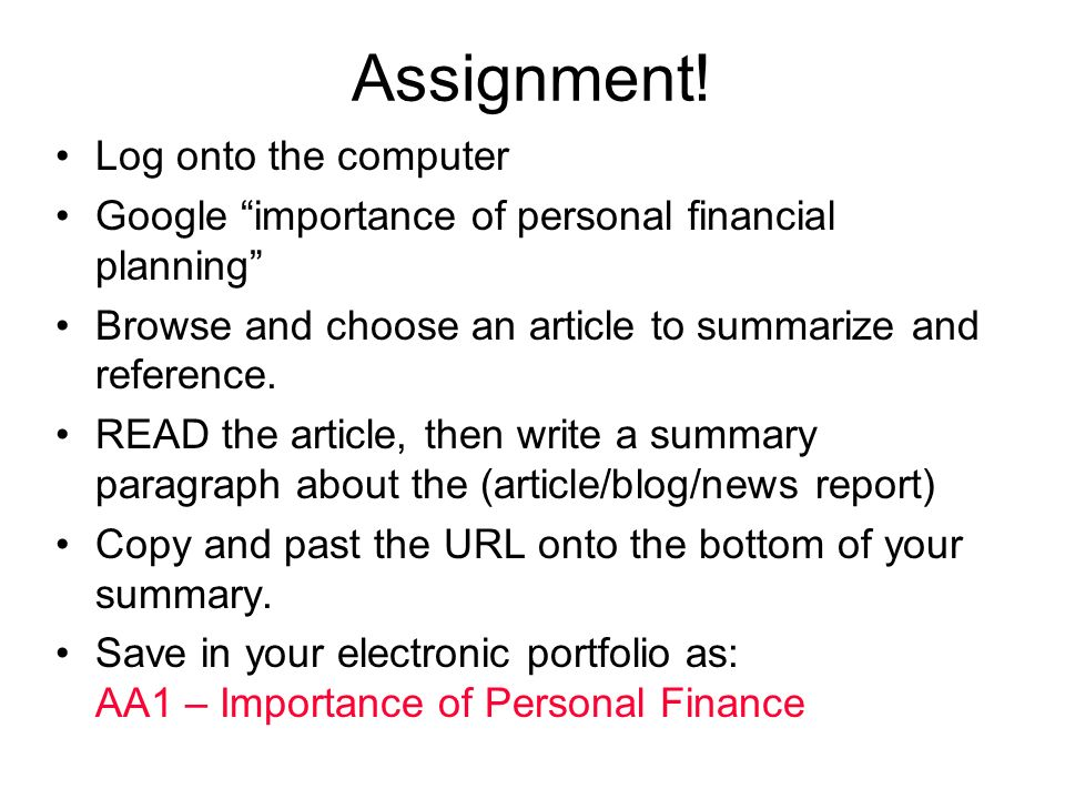 UNIT 1: Financial planning, income and taxes - ppt video online download