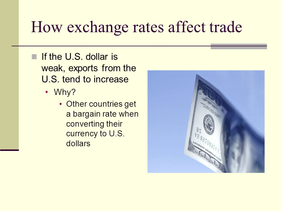 How exchange rates affect trade
