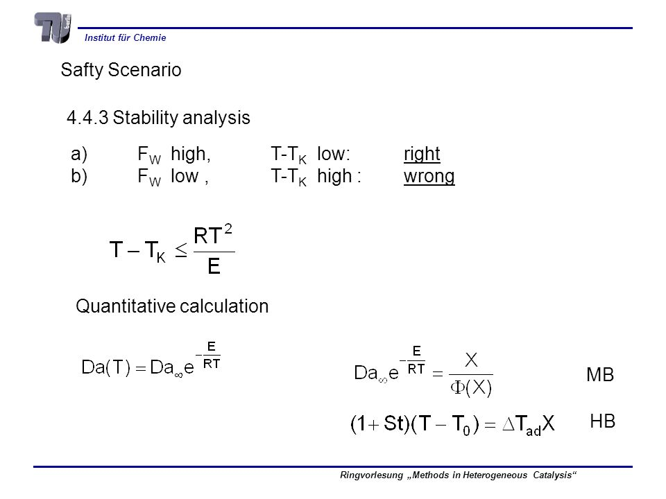 Safty Scenario 4.4.3 Stability analysis. a) FW high, T-TK low: right. b) FW low , T-TK high : wrong.