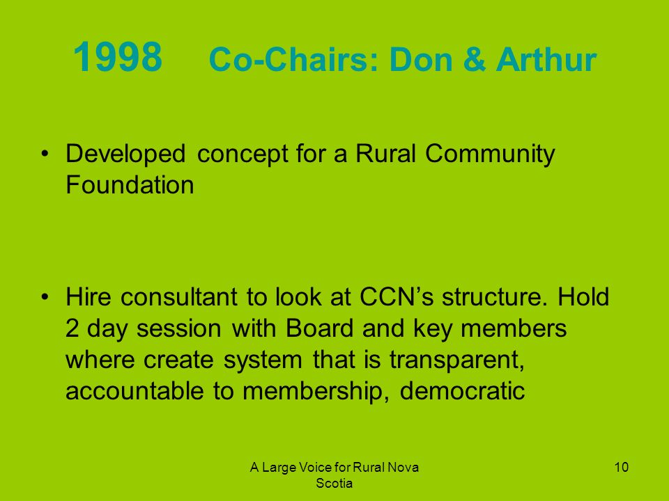 1998 Co-Chairs: Don & Arthur