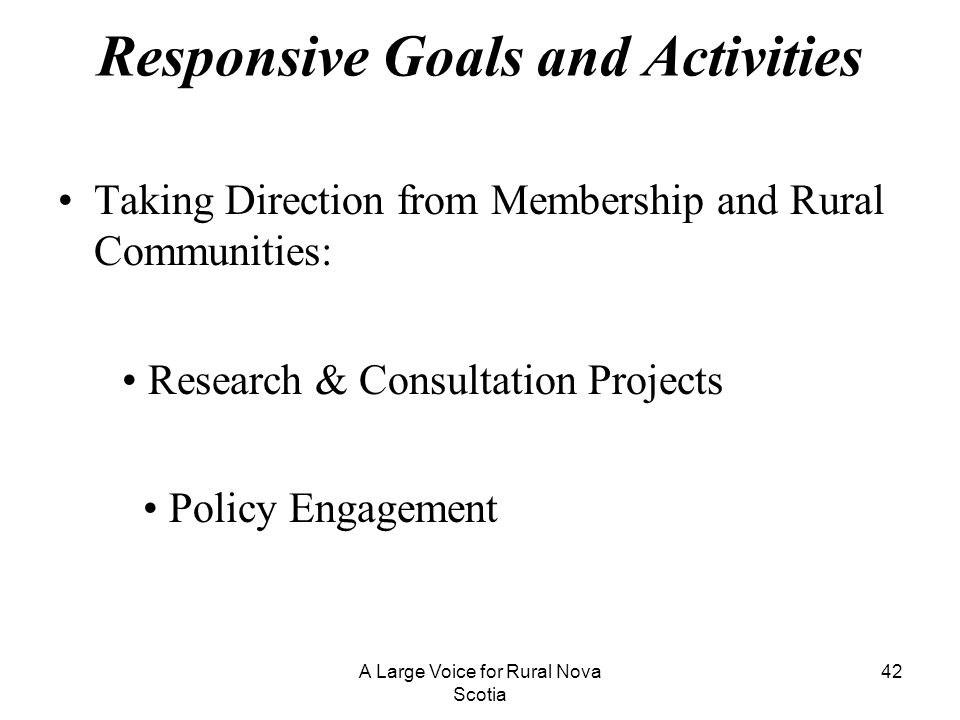 Responsive Goals and Activities